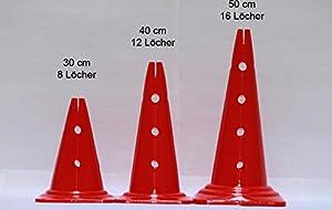 agility sport pour chiens - lot de 4 cônes avec trous, 40 cm - 4x MZK40ybrg