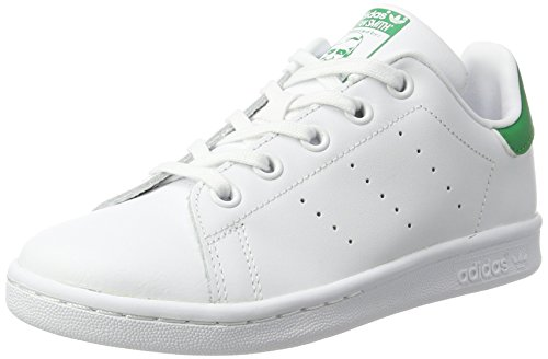 adidas - Stan Smith - Chaussures - Mixte Enfant - Blanc (Footwear White/Footwear White/Green 0) - 32 EU