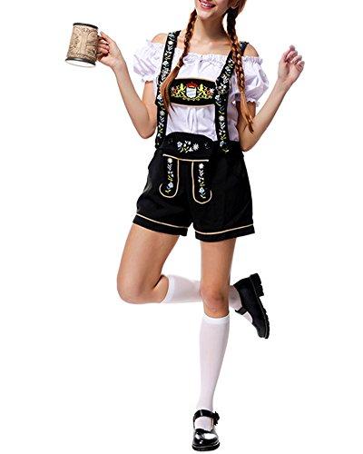 ZongSen Donna Fionda Pantaloni Costumi Halloween Oktoberfest Birra M
