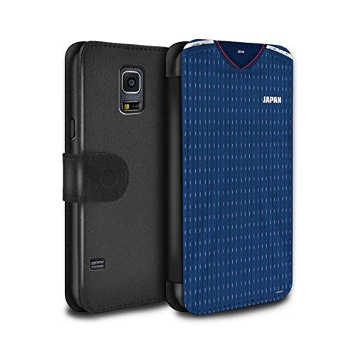 Stuff4 PU-Leder Hülle/Case/Tasche/Cover für Samsung Galaxy S5 Neo/G903 / Japan/Japanisch Muster/Weltmeisterschaft 2018 Fußball Trikot Kollektion