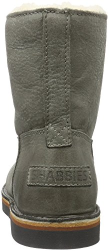 Shabbies Amsterdam Shabbies Ladies Short Boot 16cm With Real Wool Lining Alissa Matching Sole, Bottes Classiques femme Gris (Sottobosco)