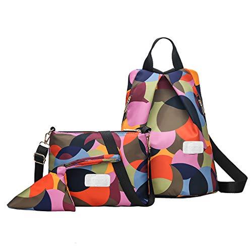 Multicolore Casual Donna i Viaggi Scolastici Moda con Chiusure Tramite Zip Borse a Zainetto Perfette per Regalo Disponibile in Una varietà di Stili (MulticoloreB)