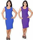 Kamakshi Krafts Knee Length Purple & Blu...