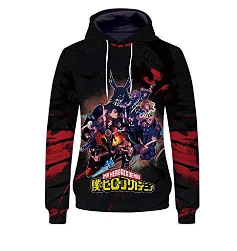 Cosstars My Hero Academia Anime Kapuzenpullover Sweatshirt Cosplay Kostüm Pullover Hoodie Sweater Top Mantel 9 ()