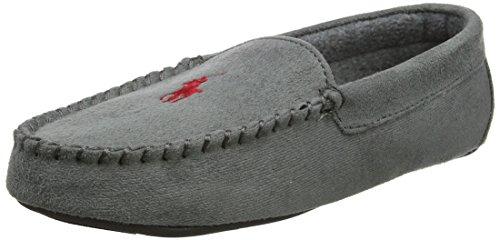 Mens Dezi II, Pantofole Uomo, Grigio (Grey Microsuede W/Burgundy PP 000), 42 EU Polo Ralph Lauren