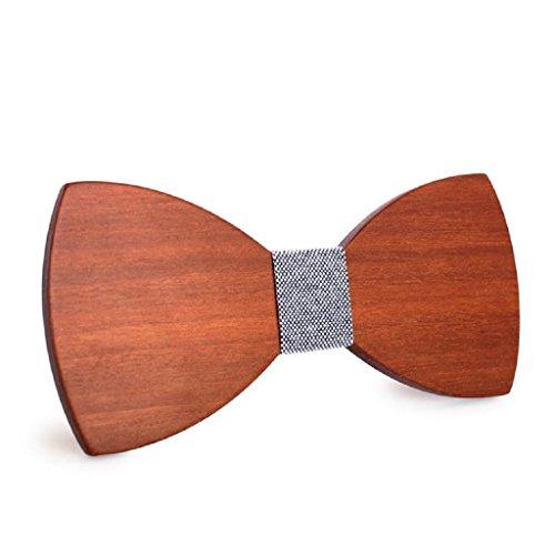 ([Garantierter Effekt!] Handgefertigte Holzfliege - Schicker Look - Dandy - Weitere Farben erhältlich / Größenverstellbar)