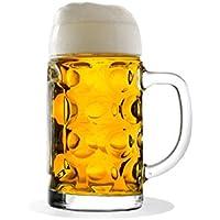 Stölzle Oberglas ISAR Maßkrug 0,5 l- Original Biermaßkrug Oktoberfest, Bierglas, Tradition, Augenkrug, 2 Stück, spülmaschinenfest, hochwertige Qualität