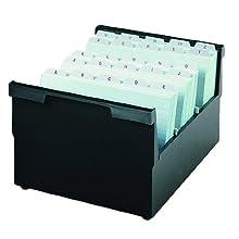 HAN 854-0-13, bac à fiches suspendues DIN A4 horizontal, 1 000 fiches, y compris 2 séparateurs, noir