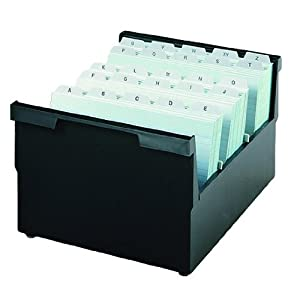 HAN 854-0-13, Suspendable box A4 landscape, for 1,000 cards, with 2 support plates, black