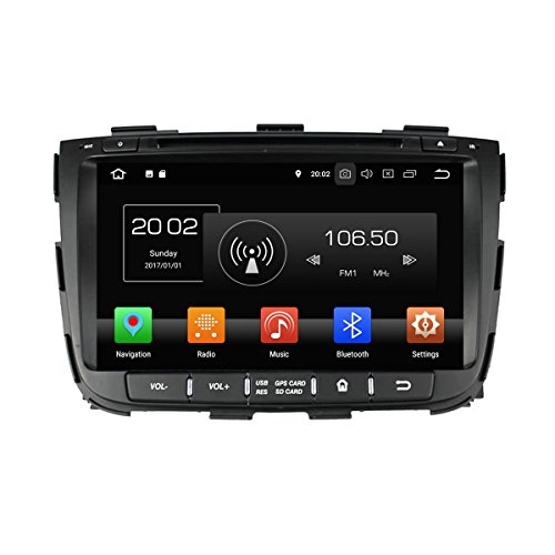 8 Zoll Touch Screen 2 Din Android 8.0 OS Autoradio für Kia Sorento 2013 2014,DAB+ Radio 8 Core 1.5G Cortex A53 CPU 32G Flash und 4G DDR3 RAM GPS Navigation Radio DVD Player 3G/WiFi OBD2 USB/SD - Autoradio Touchscreen 2014