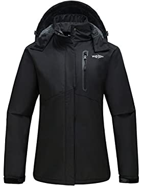 Wantdo Mujer Esquí De Montaña Chaqueta A Prueba De Viento Capa Polar Con Capucha Desmontable