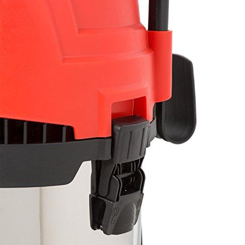 Waldbeck Cyclone • Nass-Trockensauger • Industriesauger • 3-in-1 Sauger • 1200 Watt • IPX4 Schutzklasse • 25 Liter Wassertank • integrierte Steckdose • umfangreiches Zubehör • Blasfunktion •rot - 6