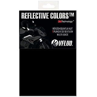 VFLUO 3M REFLECTIVE COLORS™, Universal adhesive DIY kit for Helmet/Motorbike/Scooter/Bike, 3M Technology™, 10 x 15 cm sheet, Black