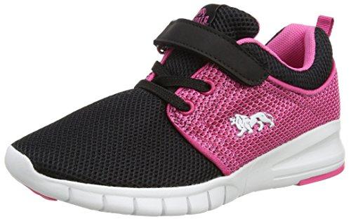 Lonsdale Sivas, Chaussures de Running Compétition Mixte Enfant Noir (noir/rose fluo)