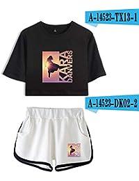 Florwesr Deportes Ombligo Expuestos Funcionamiento del Juego de Ropa Deportiva Superwoman Cortocircuitos Ocasionales de Conjunto de Yoga Pijamas Ropa Deportiva (Color : Set 9, Size : XL)