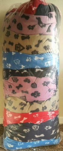 pack-of-10-fleece-large-dog-bed-cushions-with-zip-39-x-29-good-quality-job-lot-multi-colors