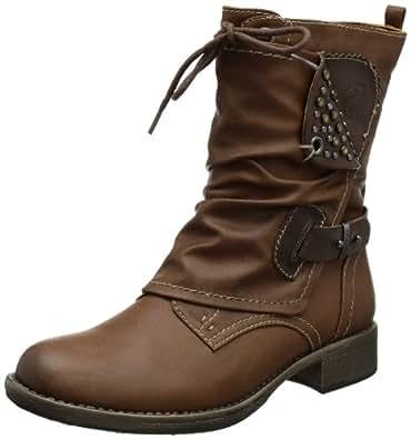 s.Oliver Casual 5-5-25320-21, Damen Biker Boots, Braun (MUSCAT/CAFE 316), EU 39