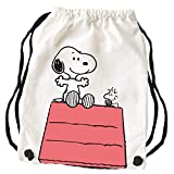 Peanuts Snoopy Collection - Stoffrucksack Hütte, 34,5 x 45 cm, Baumwolle