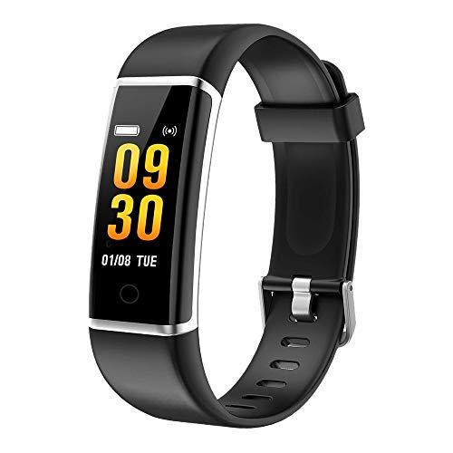 Preisvergleich Produktbild moreFit Fitness Armband Kinder,  Wasserdicht IP67 GPS Fitness Tracker Farbbildschirm Aktivitätstracker Schrittzähler Uhr mit Stoppuhren Vibrationsalarm Anruf SMS Beachten