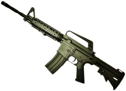 Nerd Clear Softair-Gewehr Federdruck Sturmgewehr XXL 85cm lang schwarz 6 mm inkl. Magazin, Munition und Tragegurt unter 0,5 Joule ab 14 Jahre Kinder-Gewehr Spielzeug-Gewehr Air-Soft (Softair Elektrisches Sturmgewehr)