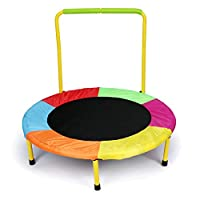 hj Kids Junior Outdoor Indoor Trampoline with Handle for Children Toys
