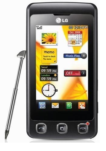 LG KP500 Cookie Smartphone (7.6 cm (3.0 Zoll) TFT-Touchscreen, 3MP Kamera, QWERTZ-Tastatur) schwarz Handy ohne Branding