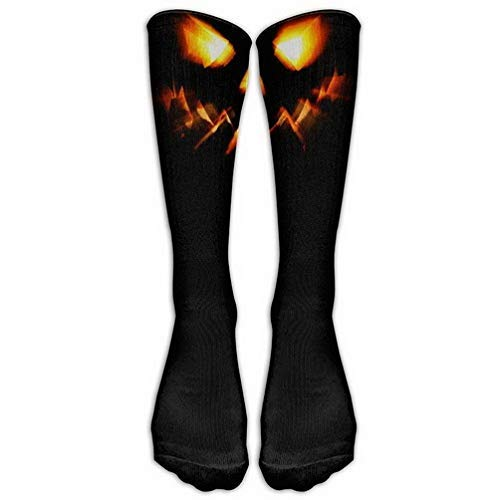 (Girls Classics One Size Warm Winter Knee High Socks Halloween Party Cool Pumpkin Men 1 Pair Long Tube Stockings for Athletic Soccer)