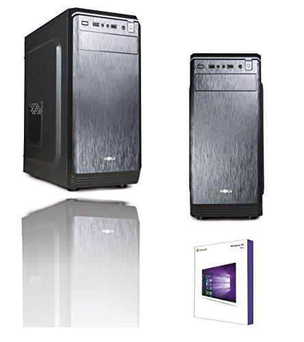 PC DESKTOP INTEL QUAD CORE CPU UP TO 2,4 ghz WINDOWS 10 PROFESSIONAL 64 BIT CASE MYKA USB 2.0 ATX 500W RAM 8GB HD SSD 240GB HDMI DVI VGA WIFI 300MB