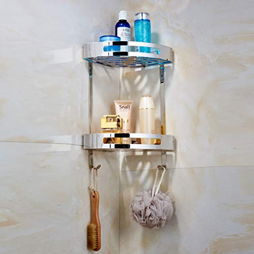 ✨ Badezimmer-Eck-Duschregal Regale Duschkorb Rack Edelstahl Organizer Wandmontage 4.25 - Eck-glasregal Satiniert