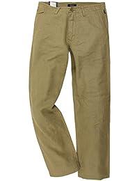 Gant Hommes Pantalon-Chino Kaki/Vert The Linen Chino M. 1201-1403510-332