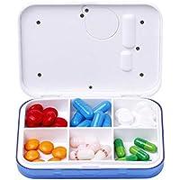 KOBWA Pillen-Organisator-Kasten mit Zeit-Anzeige, Tragbar Reise-Digital-Pillen-Kasten-Kasten-Behälter für Vitamine... preisvergleich bei billige-tabletten.eu