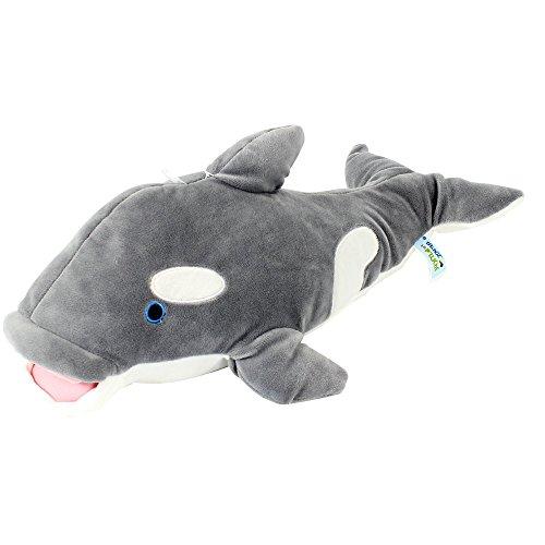 Mgm 200335 - Peluche a forma di balena, 40 cm, colore: grigio