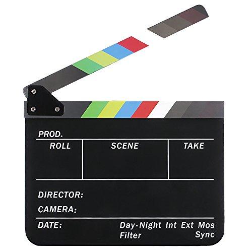 Neewer 10x 12Zoll/25x 30cm Acryl-Kunststoff Dry Erase Director 's Film Movie 23.006mit farbigen Stick (Farbigen Trocken Abwischbaren)