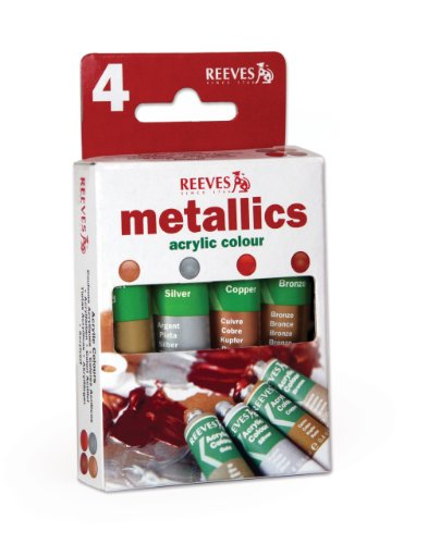 reeves-metallics-acrylic-colours-4-x-10-ml-gold-silver-copper-brilliant-red