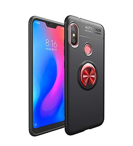 Funda Xiaomi Mi A2 Lite Teléfono Móvil Silicona Bumper Case Funda con Anillo Giratorio de 360 Grados Rotaria Ring Holder Protectora Caso (5, Xiaomi Mi A2 Lite)