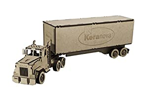 Keranova Junior Kit de Madera Camión tráiler Color marrón 5502