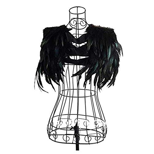 newest-fashion-black-feather-sewing-trimming-collar-shoulder-peacock-shawls-fringe-evening-dress-ang