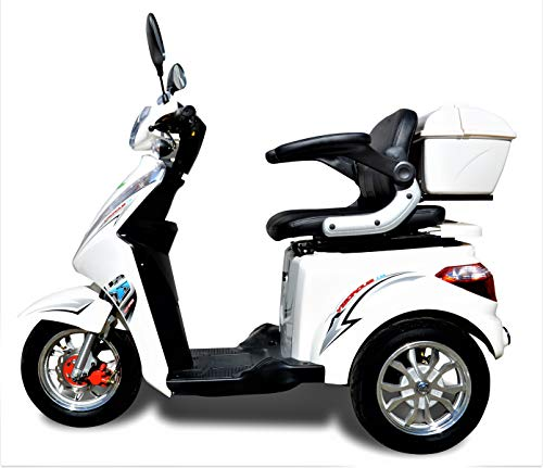SCOOTER ,Scooter elettrico, Scooter con tre ruote,scooter per anziani ed disabili,Seniors mobile ECO ENGEL 1000 watts (Bianco)