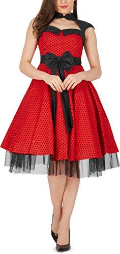 black-butterfly-athena-polka-dots-kleid-mit-grosser-schleife-rot-eur-38-s