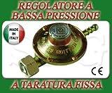 REGOLATORE BASSA PRESSIONE PER CUCINE FORNELLONI STUFE BARBECUE A GAS GPL