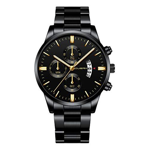 Armbanduhr für Heren/Skxinn Männer Minimalistischen Wasserdicht Männer Armbanduhr Mode Elegant Geschäft Schwarz Quarz mit Edelstahl Armband,Luxury Herrenuhren Ausverkauf -
