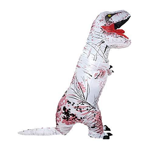 Schwanz T Rex Kostüm - TIKENBST Dinosaurier Aufblasbare Set Erwachsene Kind T-Rex Kostüm Halloween Aufblasbare Kleidung (insgesamt 3 2 M Einschließlich Schwanz),Small