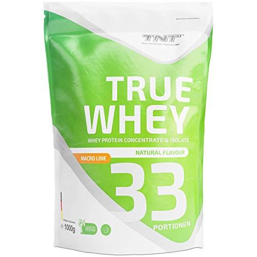 Whey Protein Isolate & Konzentrat Pulver - Eiweißpulver aus Molke - Proteinpulver - Eiweiß-Shake / 1kg - Natural - Carb Whey-protein-pulver