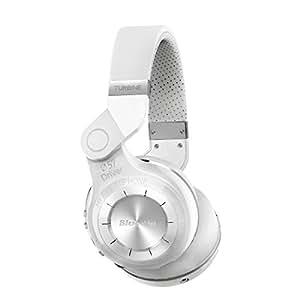 Bluedio T2 (turbina 2) Stereo Bluetooth Cuffie senza fili Bluetooth 4.1 auricolare on the Ear (Bianco)