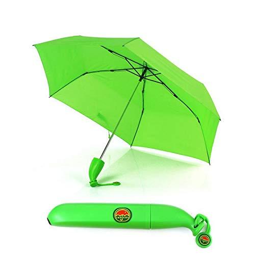 Epyz Folding Portable Sun, Rain Umbrella for Outdoor in Banana Shape (Green)