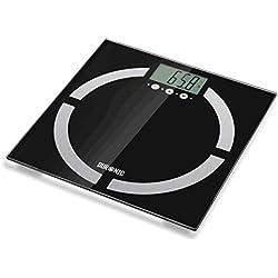 Duronic BS401 - Bilancia diagnostica digitale con pedana in vetro. Portata 180 kg.