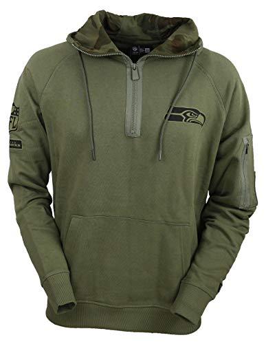 New Era Camo Collection Herren Sweater Seattle Seahawks Khaki, XXL, Olive New Era Camo