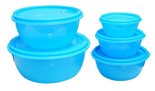 Princeware Store Fresh Plastic Bowl Package Container, Set of 5,...