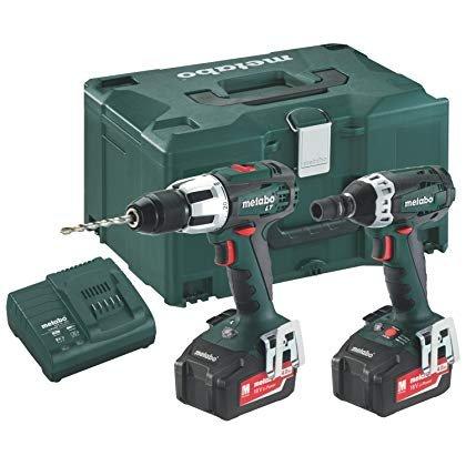 'METABO Combo Set 2.1.418V * SB LT + SSW (2x 4,0Ah) Combo-Bohrhammer und Bohrschrauber Schlagschrauber 1/218V 4.0Ah -