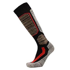 GHH Ski & Snowboard Socken 4 Farben – Männer & Frauen Wandern/Skifahren/Trekking Socken Lange Röhre Plus Dicke Multi Performance Outdoor Sportsocken